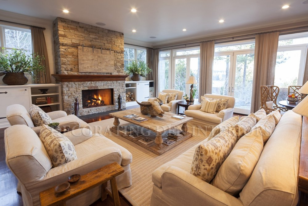 Rustic Reverie: Living Room Interior Design For A Casual