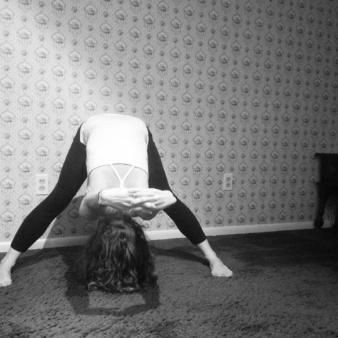 Prasarita padottanasana. Wide Legged Forward Fold