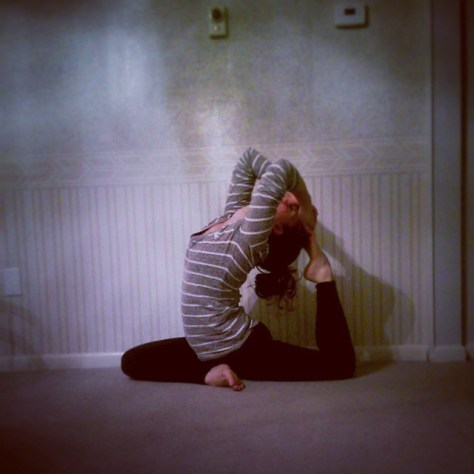 One Legged King Pigeon Pose, Eka Pada Rajakapotasana