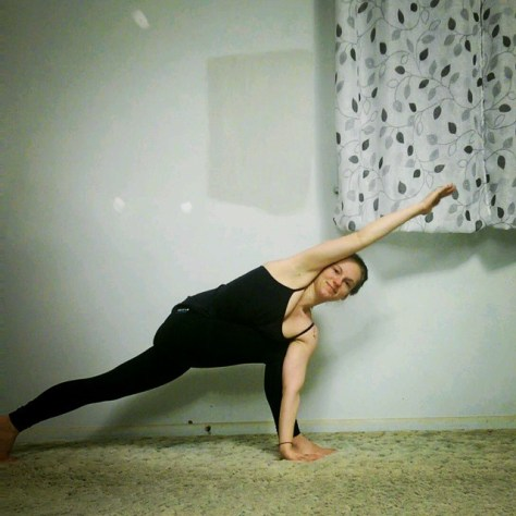 Day 2: Revolved Side Angle, Parivrtta Parsvakonasana