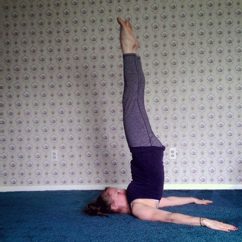 Day 14: Shoulderstand, Sarvangasana