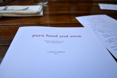 Pure Food and Wine