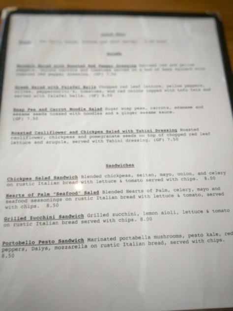 Root of Lancaster - Lunch Menu