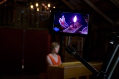 Opening shot of the Been A Long Time music video during filming at Park Winters.