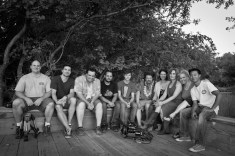 Group photo of crew for Been A Long Time filming.