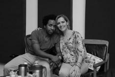 Singer songwriter Christine Rosander and bass player Edwin Livingston