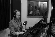 Doug Petty plays piano during the recording of the Been A Long Time album.