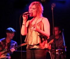 Singer songwriter Christine Rosander performing a live show at El Cid.