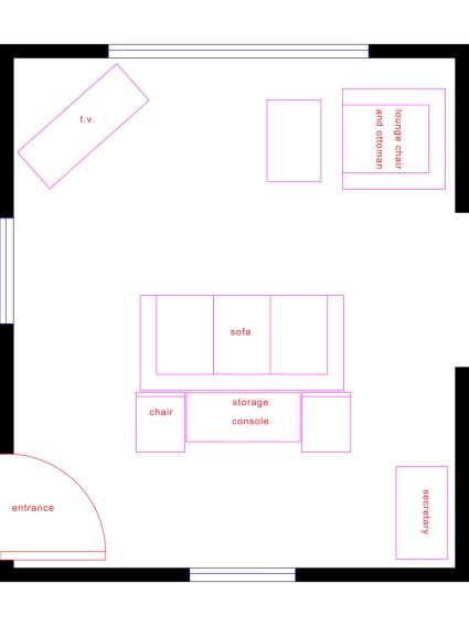 Tara's Space Lift_Furniture Layout for Den_Living Room_Christine Tse Interiors