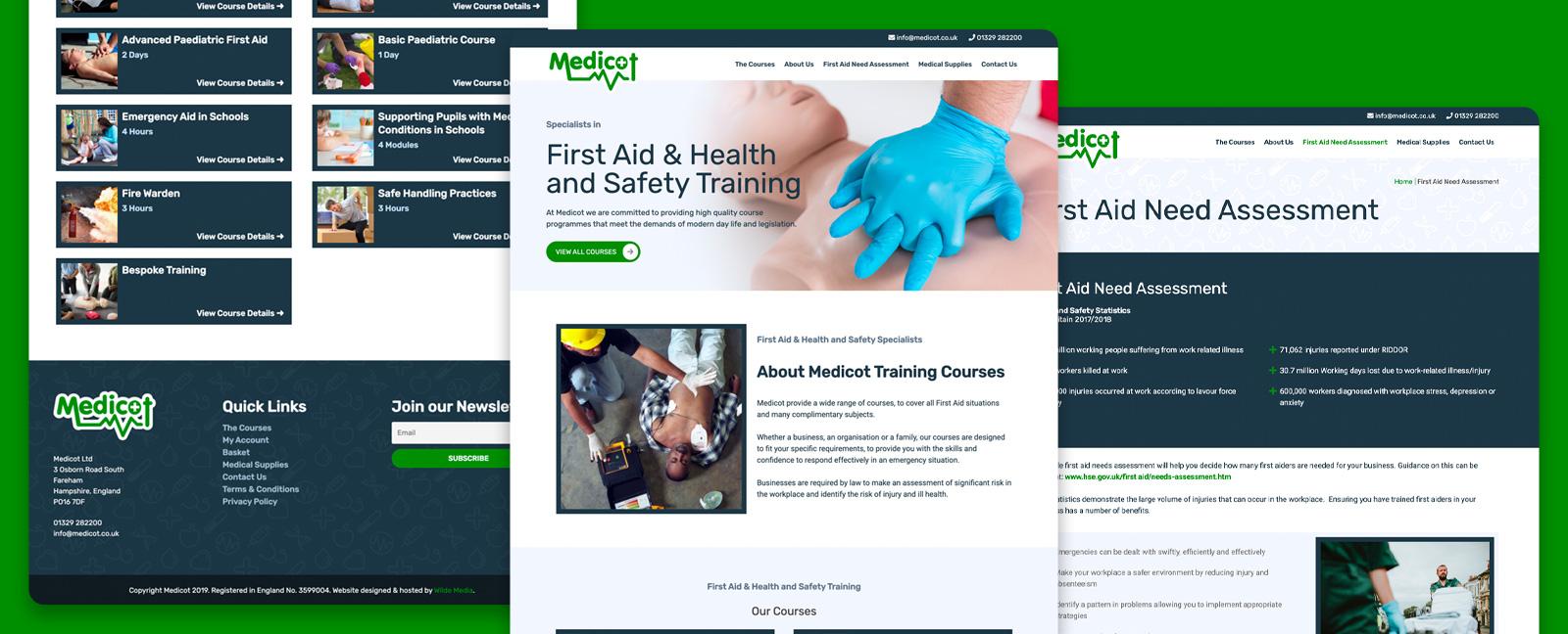 Marketing WordPress websites designed by freelance website designer Christine Wilde