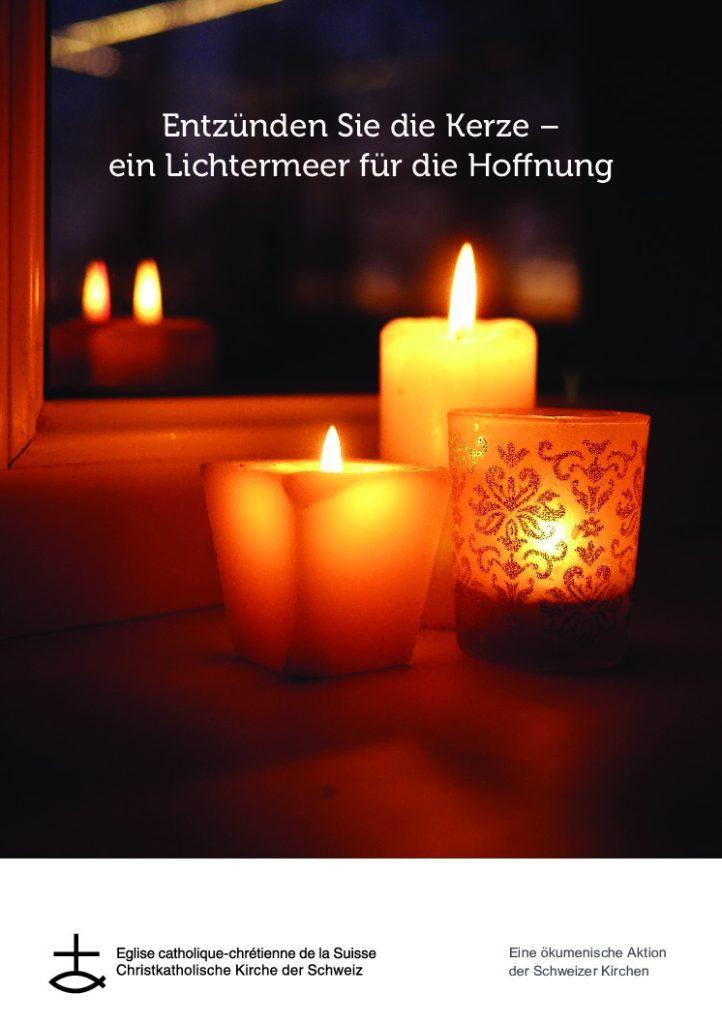 Kerzen vor dem Fenster