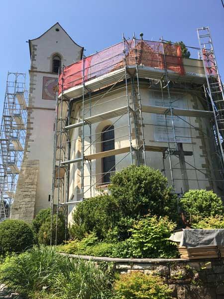 Kirchenrenovation Alte Dorfkirche St. Peter & Paul in Allschwil
