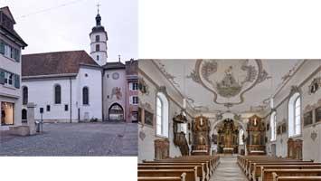 St. Katharinenkirche Laufen - Aussen- und Innenansicht