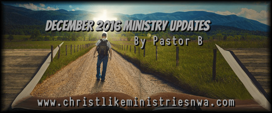 December 2016 Ministry Update