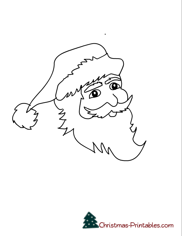 this is coloring page of a santa s face click on the image to see and