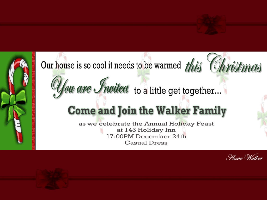 Holiday Greetings Invitation Wording Samples | Rezzasite.co
