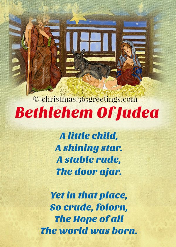 short christmas poems celebration all about - Religious Christmas Poems