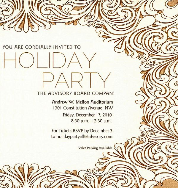 Office Christmas Party Invitations Sample 1