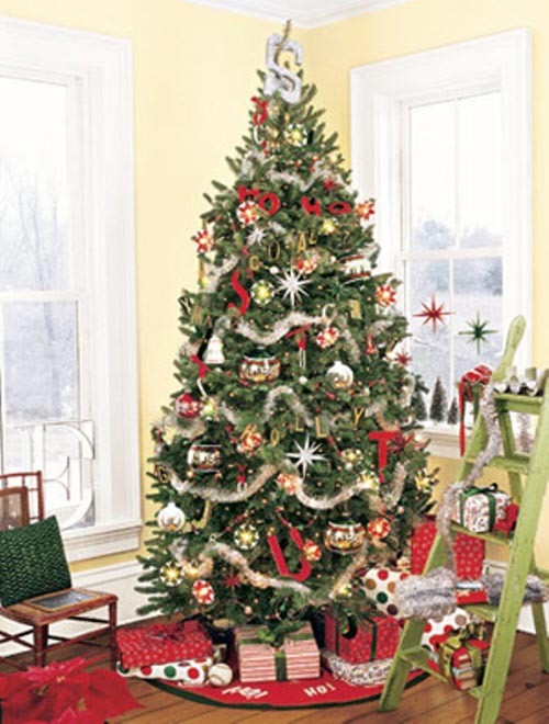 Decorating Trees For Christmas With Ribbon