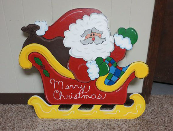 Image Plastic Molded Outdoor Christmas Decorations Pc