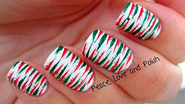 Pale Pink Christmas Nail Art