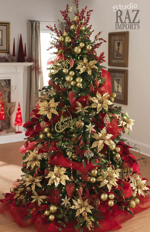 Most Pinteresting Christmas Trees on Pinterest   Christmas     Traditional Green and Red