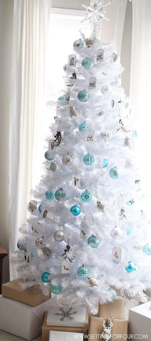 Most Pinteresting Christmas Trees on Pinterest   Christmas     white christmas tree decorating ideas