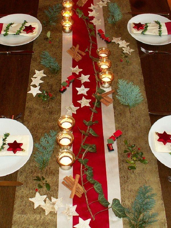 Christmas Table Decorations Ideas Golden