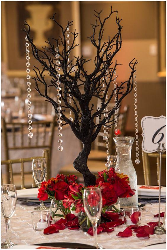 Christmas Wedding Centerpieces