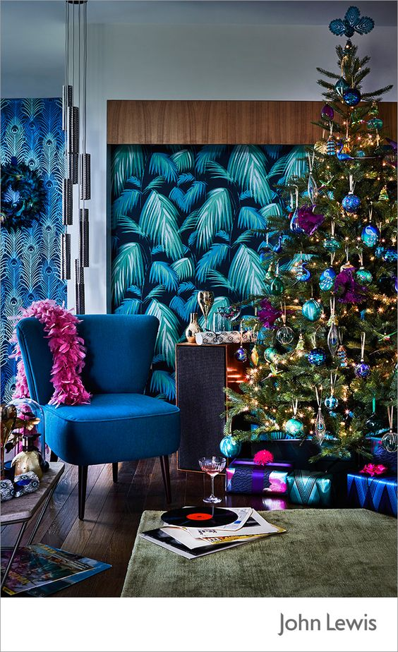 26 Beautiful Teal Christmas Decoration Ideas Christmas Celebration All About Christmas