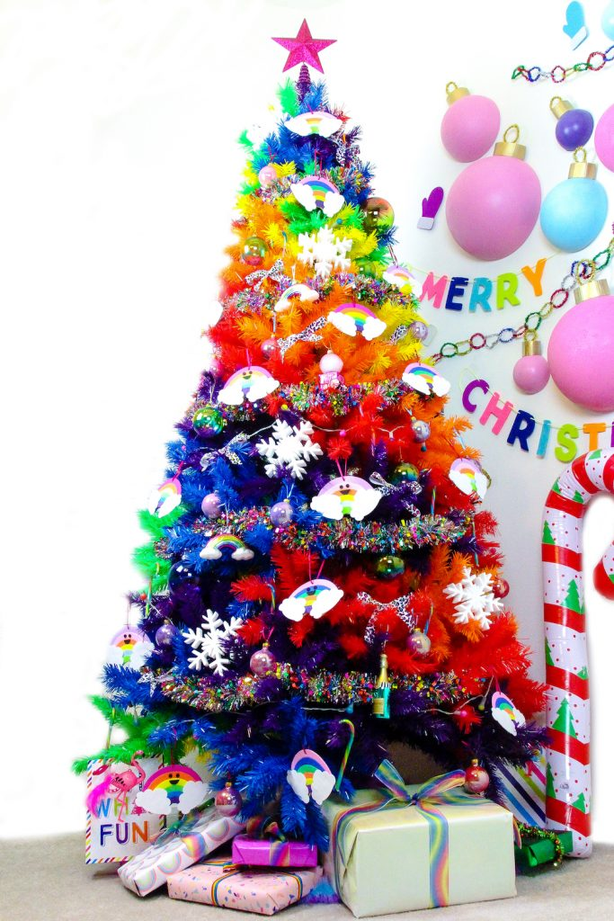 27 Rainbow Christmas Tree Decoration Ideas Christmas Celebration All About Christmas