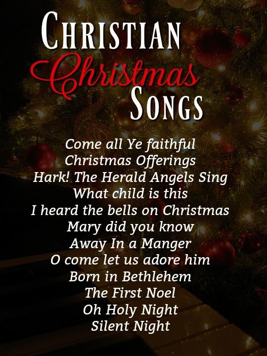 Top Christian Christmas Songs Christmas Celebration