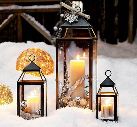 Stunning Christmas Lantern Decorations Ideas   All About Christmas christmas lantern decorations 1