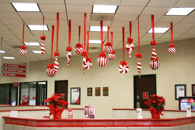 Office Decor Ideas Christmas Decorating For The Hominic Within Themes Cubicle Decoration