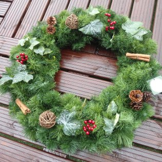 Winter Nature Christmas Door Wreath