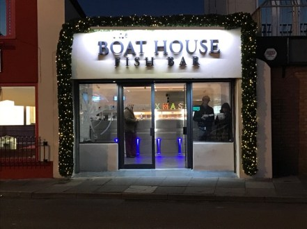 30cm Commercial Luxury GarlandBoat House Fish Bar Porthcawl.