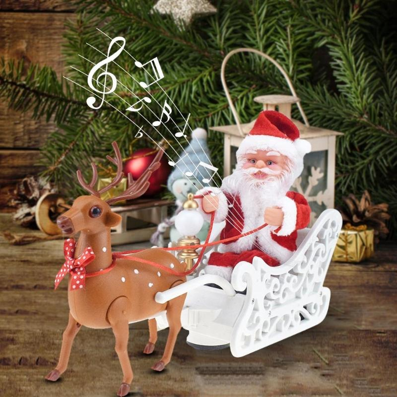 Christmasily Riding Deer Santa with Music