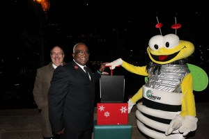 Louie Lightning Bug at the Missouri Festival of Lights.