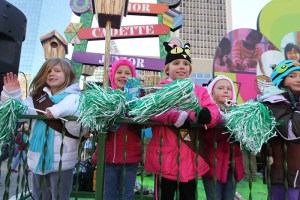 Brownie Scouts at the 2013 Ameren Missouri Thanksgiving Day Parade.