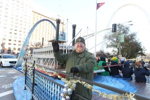 St. Louis riverfront float at the 2013 Ameren Missouri Thanksgiving Day Parade.