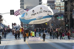 Wings of Hope balloon at the 2013 Ameren Missouri Thanksgiving Day Parade.