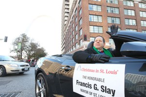Mayor Francis G. Slay at the 2013 Ameren Missouri Thanksgiving Day Parade.