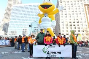 Louis Lightning Bug at the 2013 Ameren Missouri Thanksgiving Day Parade.