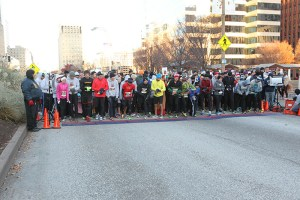 Runners at the starting line of the 2013 Hungry Turkey 5k