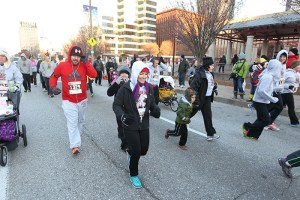 Runners of all ages during the 2013 Hungry Turkey 5k