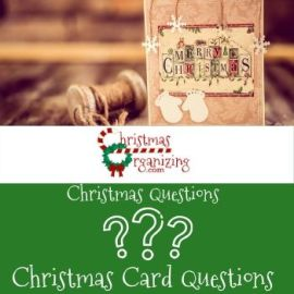 Christmas Card Questions
