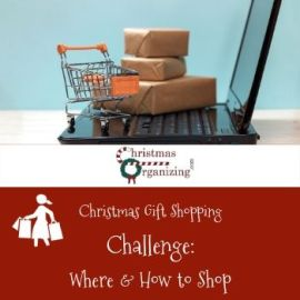 Christmas Shopping Where and How