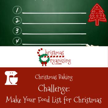 Make a Food List for Christmas