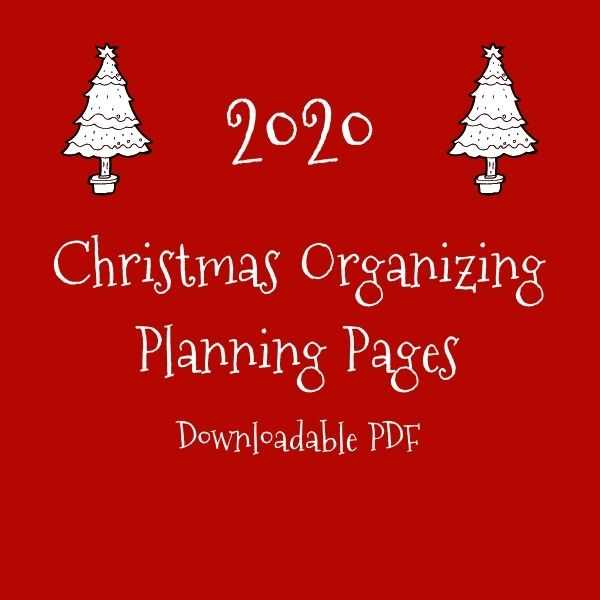 2020 Christmas Planning Pages - Complete Set