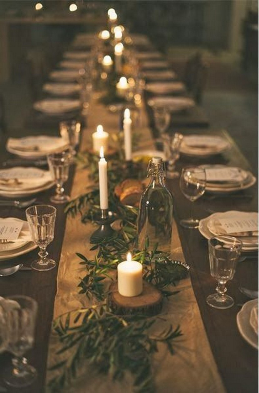 100 Beautiful Christmas Table Decorations From Pinterest
